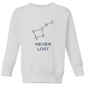 Little Dipper Constellation Never Lost Kids' Sweatshirt - White