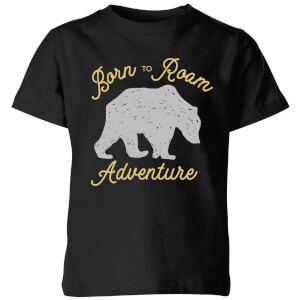 Adventure Born To Roam Kids' T-Shirt - Black