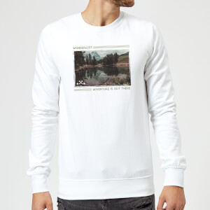 Forest Photo Scene Wonderlust Adventure Is Out There Sweatshirt - White