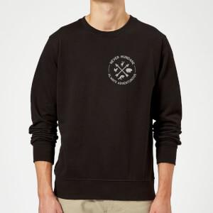 Never Mundane Pocket Print Sweatshirt - Black