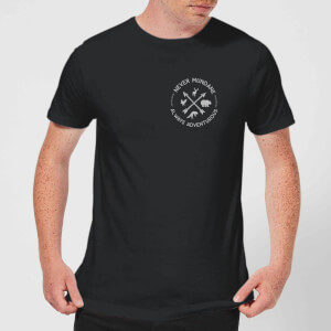 Never Mundane Pocket Print Men's T-Shirt - Black