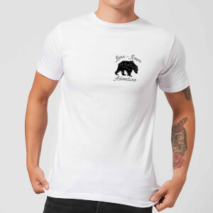 Born To Roam Adventure Pocket Print Men's T-Shirt - White