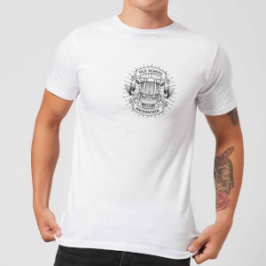 Vintage Old School Backpacker Pocket Print Men's T-Shirt - White