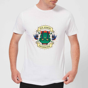 Vintage Old School Backpacker Men's T-Shirt - White