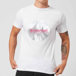 Mountain Wonderlust Adventure Is Out There Men's T-Shirt - White