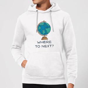 Globe Where To Next? Hoodie - White
