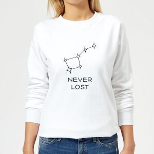 Little Dipper Constellation Never Lost Women's Sweatshirt - White
