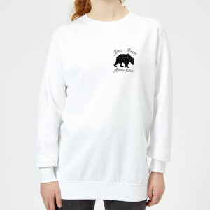 Born To Roam Adventure Pocket Print Women's Sweatshirt - White