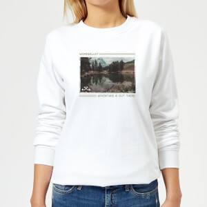 Forest Photo Scene Wonderlust Adventure Is Out There Women's Sweatshirt - White