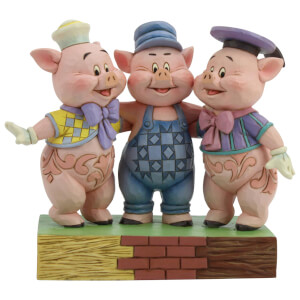 Disney Traditions - Squealing Siblings (Silly Symphony Three Little Pigs Figurine)