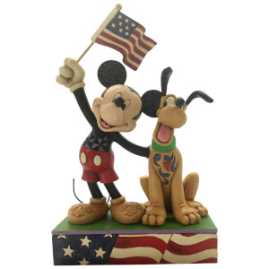 Disney Traditions - A Banner Day (Mickey and Pluto Patriotic Figurine)