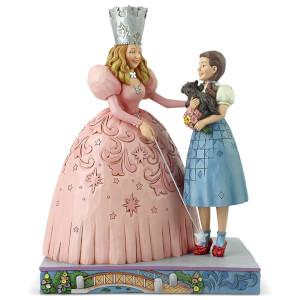 Statuetta di Glinda e Dorothy con le scarpette rosse di Jim Shore, da Il Mago di Oz