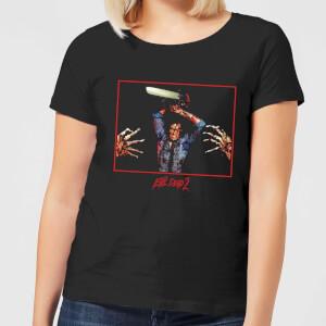 Evil Dead 2 Ash Chainsaw Women's T-Shirt - Black