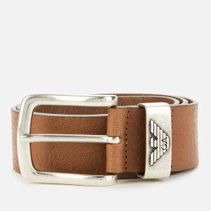 Emporio Armani Men's Eagle Keeper Belt - Cognac