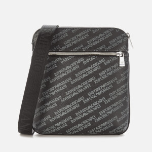Emporio Armani Men's Large Logo Cross Body Bag Pu - Black