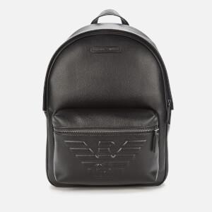 Emporio Armani Men's Backpack - Black/Black