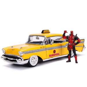 Jada Die Cast Marvel 1:24 Taxi and Deadpool Figure