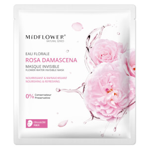 Midflower Masque invisible Rosa Damascena Flower Water
