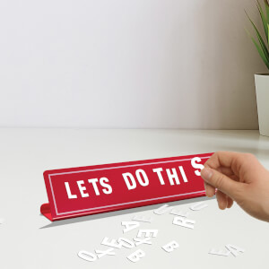 Magnetic Letter Board Red