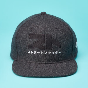 Street Fighter Arcade Ryu Logo Felt Cap - Grey