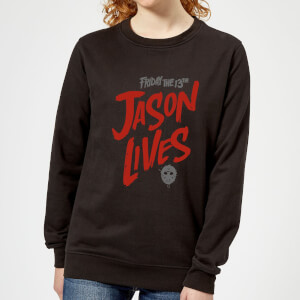 Friday the 13th Jason Lives Women's Sweatshirt - Black