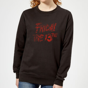 Friday the 13th Logo Blood Women's Sweatshirt - Black