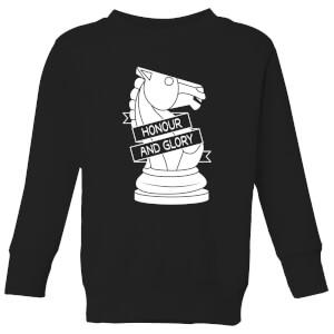 Knight Chess Piece Kids' Sweatshirt - Black
