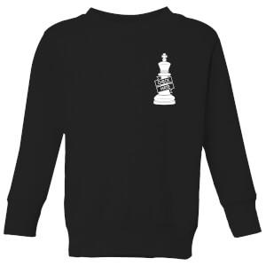 Check Mate Pocket Print Kids' Sweatshirt - Black