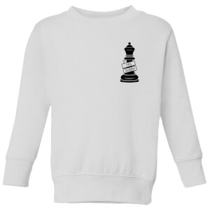 Queen Chess Piece Yas Queen Pocket Print Kids' Sweatshirt - White