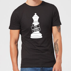 Queen Chess Piece Yas Queen Men's T-Shirt - Black