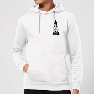 Queen Chess Piece Yas Queen Pocket Print Hoodie - White