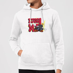 King Me! Checker King Hoodie - White