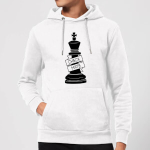 King Chess Piece Check Mate Hoodie - White