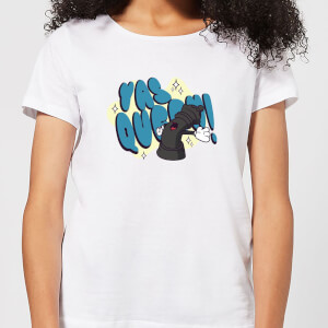 Yas Queen! Cartoon Women's T-Shirt - White