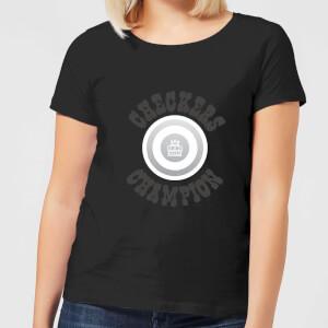 Checkers Champion White Checker Women's T-Shirt - Black