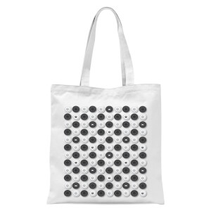 Monochrome Checkers Pattern Tote Bag - White