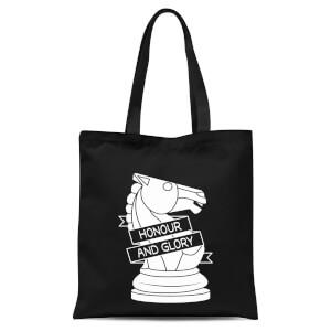 Knight Chess Piece Tote Bag - Black