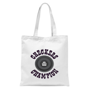 Checkers Champion Black Checker Tote Bag - White