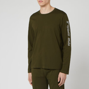 Polo Ralph Lauren Men's Long Sleeve Crew-Sleep Top - Spanish Olive