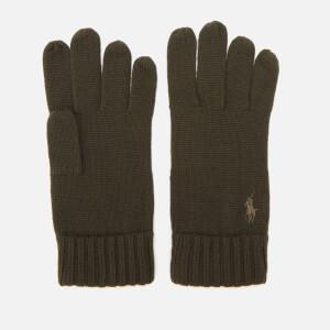 Polo Ralph Lauren Men's Merino Gloves - Oil Cloth Green