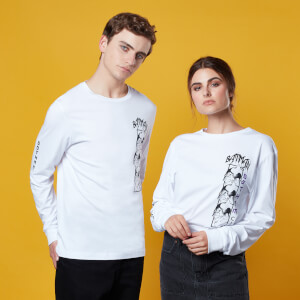 Gotham Guardian Panel Longsleeve T-Shirt - Weiß