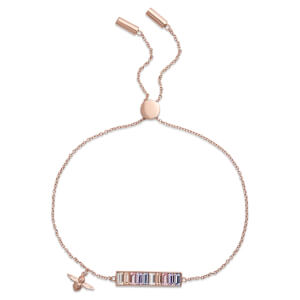 Olivia Burton Women's Rainbow Bee Baguette - Rose Gold