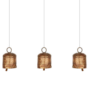Nkuku Vaya Antique Gold Bells (Set of 3)