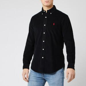 Polo Ralph Lauren Men's Custom Fit Cord Shirt - Black