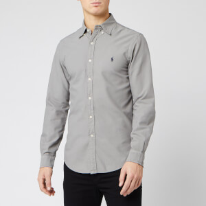 Polo Ralph Lauren Men's Garment Dyed Slim Fit Shirt - Grey