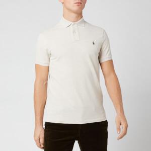 Polo Ralph Lauren Men's Custom Fit Basic Mesh Polo Shirt - American Heather Beige