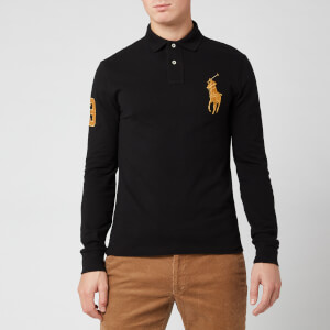 Polo Ralph Lauren Men's Long Sleeve Big Polo Shirt - Black/Gold