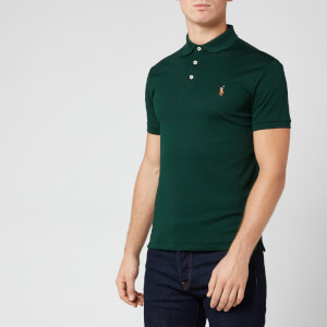 Polo Ralph Lauren Men's Pima Soft Touch Slim Fit Short Sleeve Polo Shirt - College Green