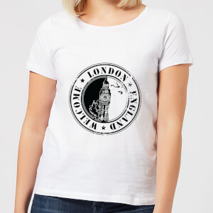 Welcome London England Women's T-Shirt - White