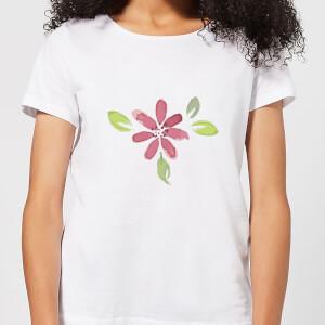 Pink Flower 1 Women's T-Shirt - White